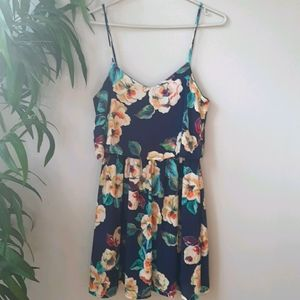 Trac Navy floral dress